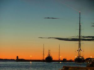 Zachód słońca w Zadarze