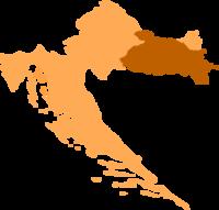 Chorwacja mapka region Slawonia