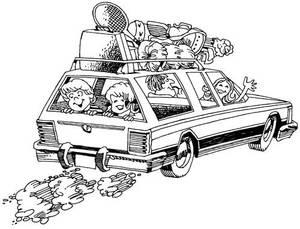 samochodem podróż