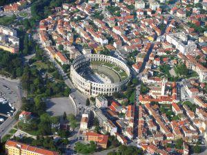 misasto Pula w Chorwacji