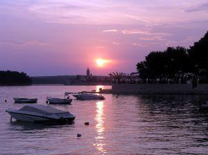 Zachód słońca na wyspie Rab - Chorwacja